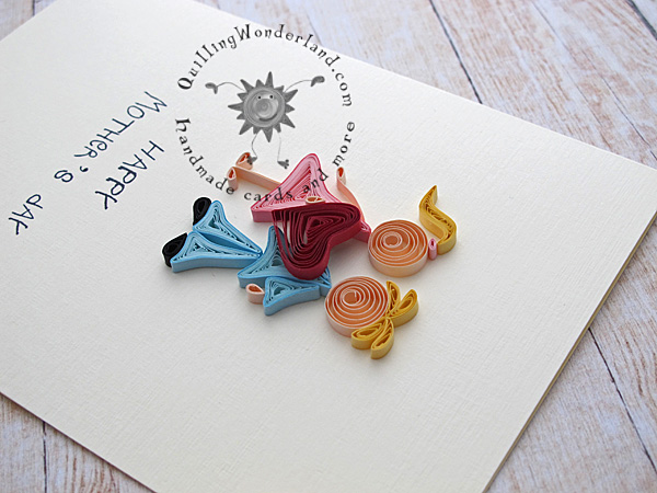 mothers day quilled handmde card