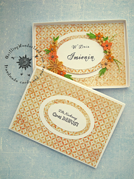 Floral boxed greeting card