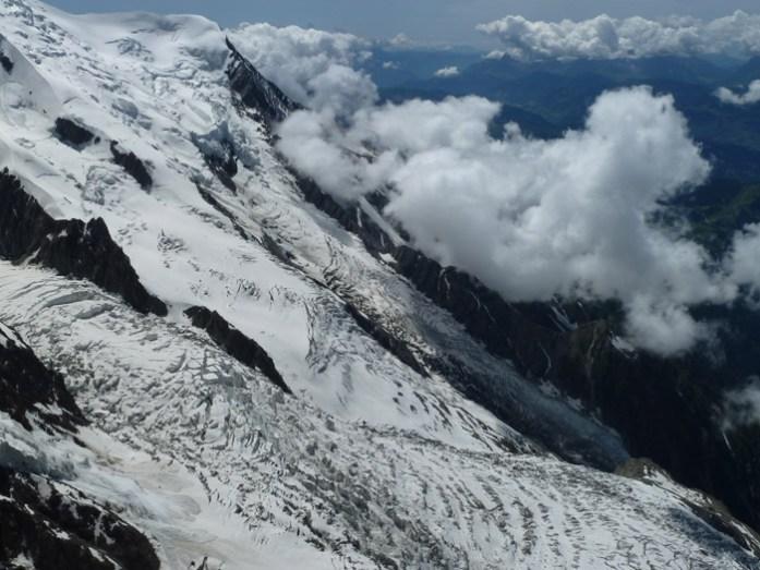 Viagem de mota pela Suíça e Alpes. Em Aiguille du Midi, Chamonix.