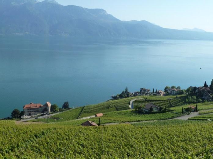 Viagem de mota pela Suíça e Alpes. Pela Rota do Lago do Lèman