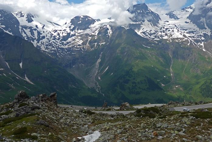 Grossglockner estrada de montanha alpina Áustria