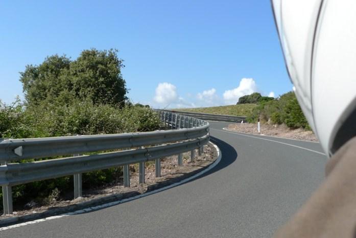 de mota por parte do percurso do Rally da Sardenha.