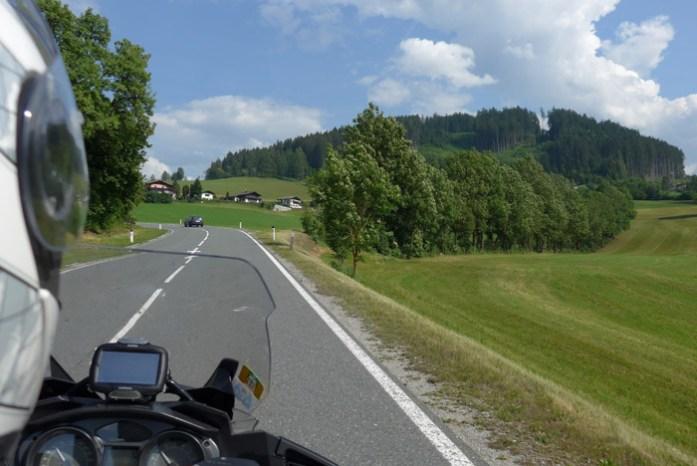 De mota pelos Alpes Alemães. Deutschland