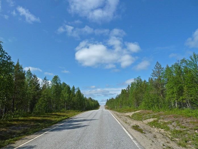 Pela Lapónia Finlandesa a caminho de Nordkkapp na Noruega.
