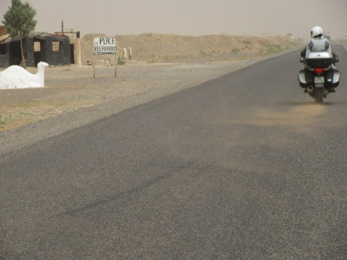 Tempestade de areia a caminho de Merzouga