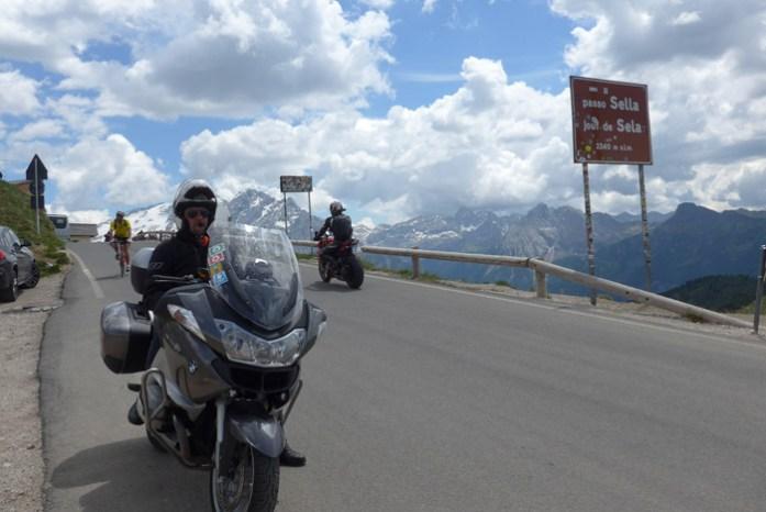 De mota nas Dolomites - Passo Sella