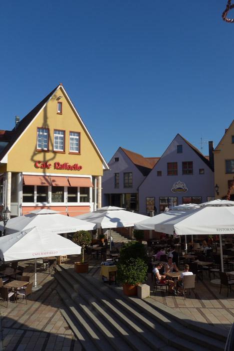 Pelo centro histórico de Donauwörth.