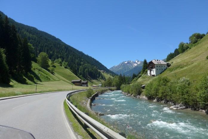 Viagem de mota na Áustria.