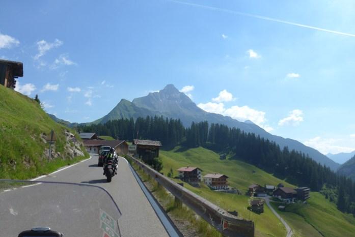 Viagem de mota na Áustria