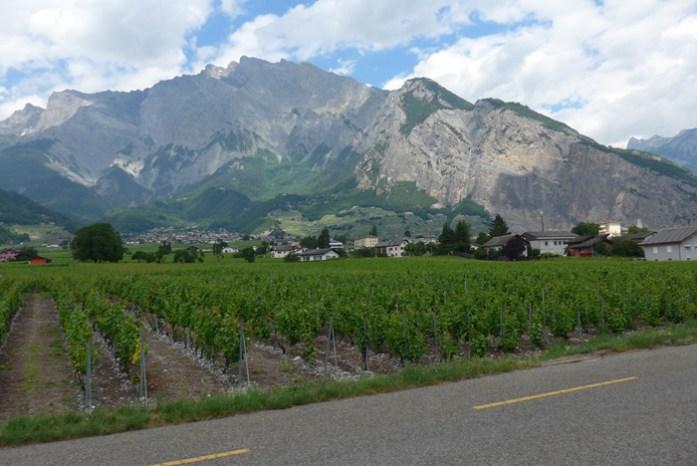 No Valais. Região de Martigny. Suíça
