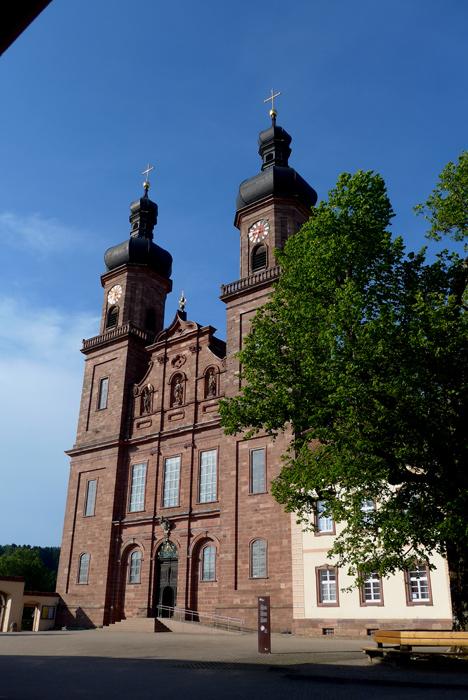 Rota panorâmica da Floresta Negra. A Abadia de St Peter e o Mosteiro.