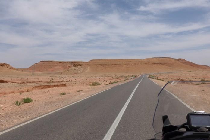 Estrada entre Marraquexe e Ouarzazate.