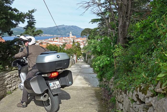 Imprevistos em viagem de mota. Na Croácia, Ilha de Kórcula