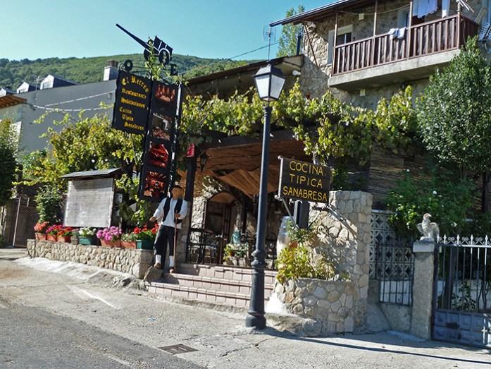 Restaurante típico em San Martin de Castañeda. Lago Sanabria