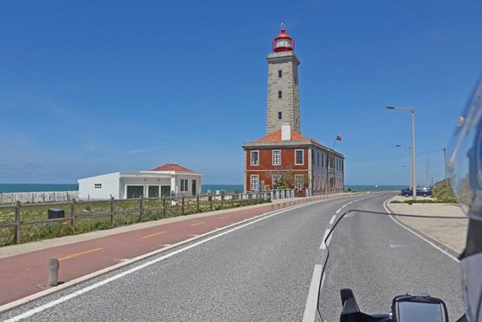 Farol de São Pedro de Moel. Estrada Atlântica