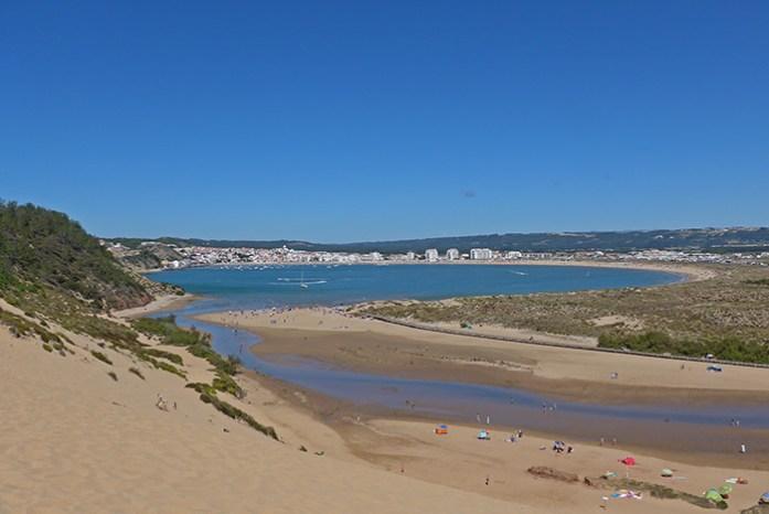 Duna de Salir do Porto. Vista para a Baía de São Martinho.