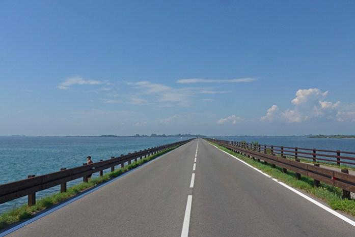 Estrada panorâmica SR352 Aquileia - Grado, Itália