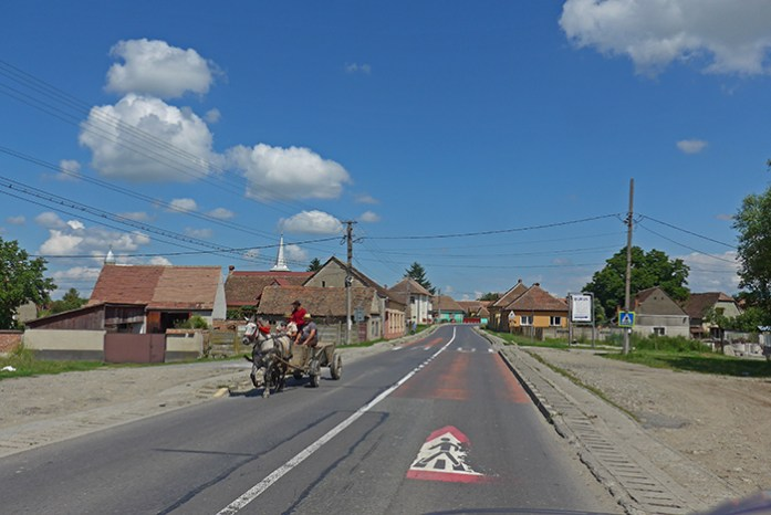Aldeias da Transilvânia. Em Cartisoara. Roménia
