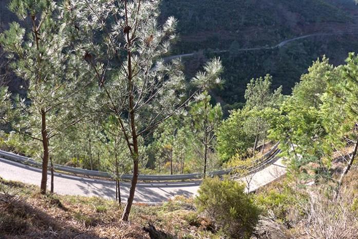 Aldeias do Xisto, a pequena estrada que liga a N236 à aldeia de Cerdeira