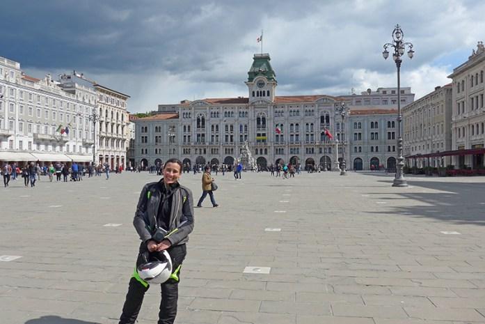Centro histórico de Trieste. Itália