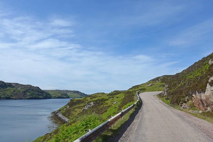 Estrada para Achmelvich Bay