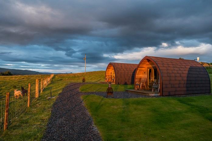 Alojamento na Ilha de Skye: Skeabost View Pods