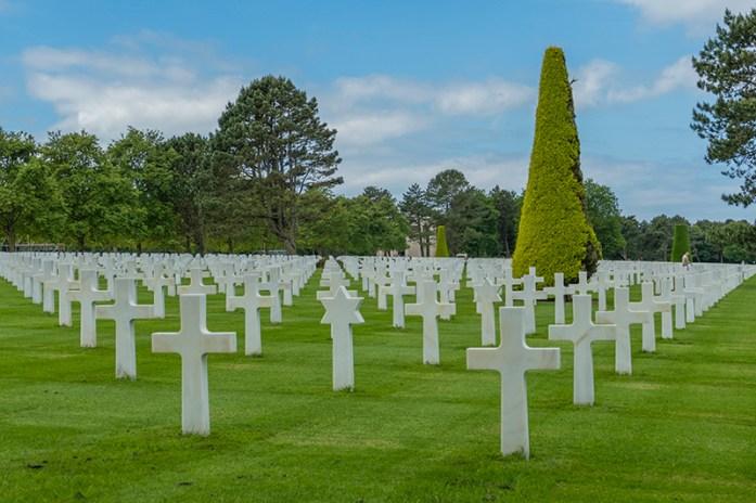 Cemitério Americano da II Guerra Mundial. Desembarque da Normandia