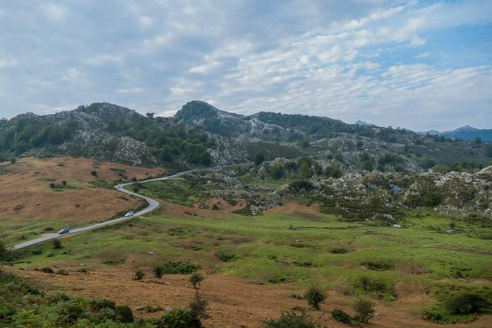 Estrada panorâmica Lagos Covadonga