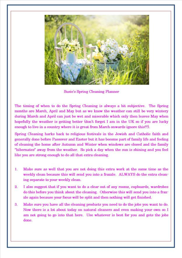Spring Cleaning Planner 2