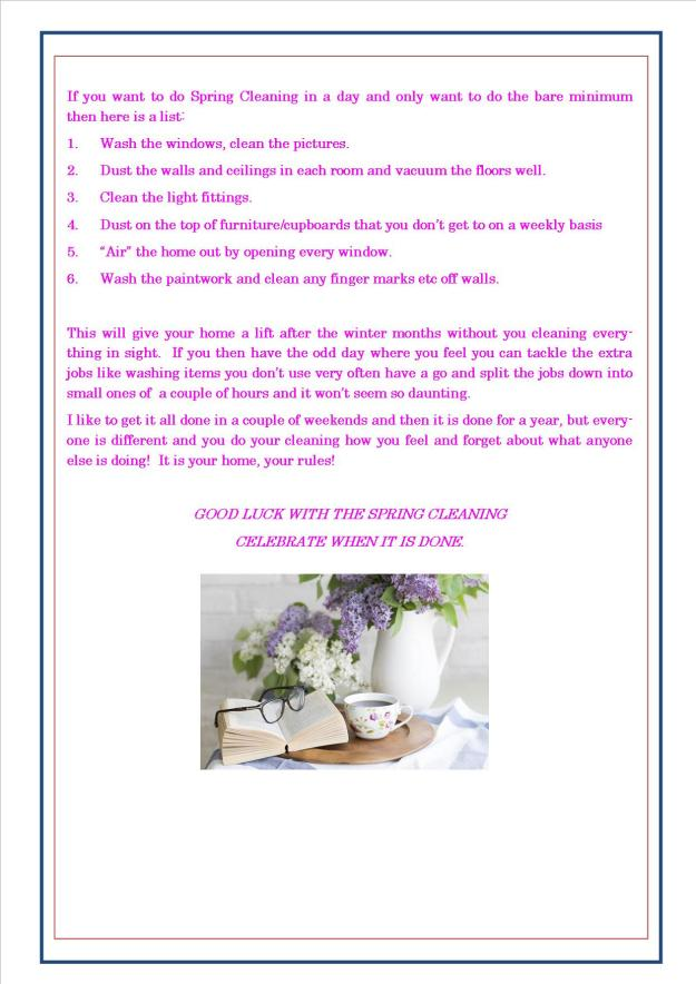 Spring Cleaning Planner 9