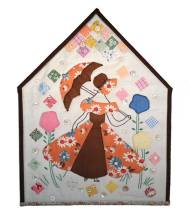 """Yipee I'm Free"", 2012, for the ""Home Is Where the Quilt Is"" contest."