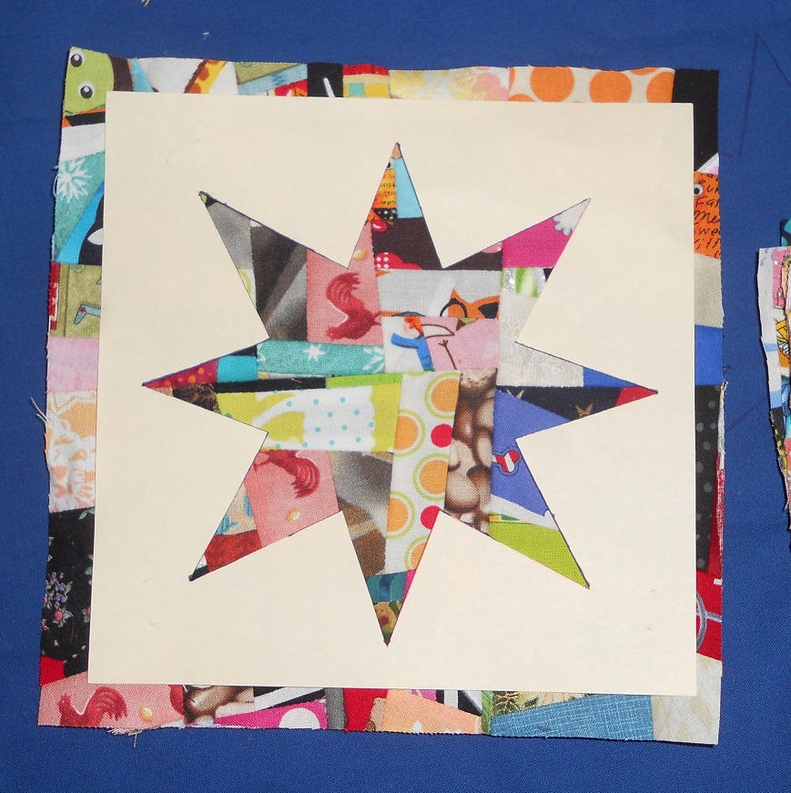 Another Chopped Block and Crumb Star Pillow (6/6)