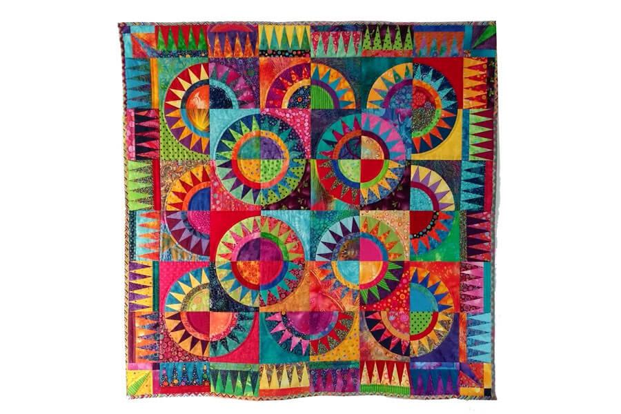 Kleurrijke quilt