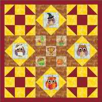 owl applique quilt