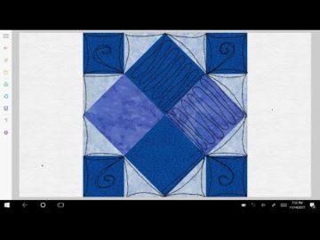 Four Patch Art Square Variation #7