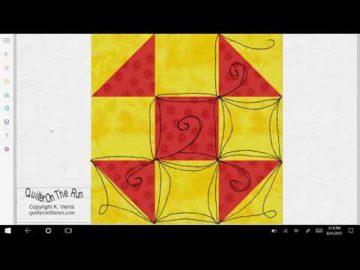 Shoofly Quilt Block Quilting Ideas Variation #4