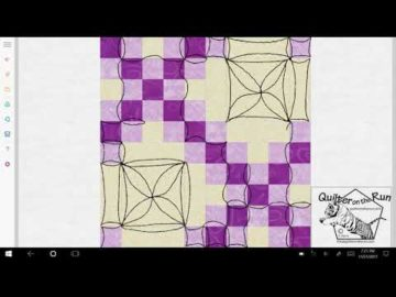 Free Motion Quilting Ideas for a Double Irish Chain Variation #2