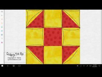 Shoofly Quilt Block Quilting Ideas Variation #1