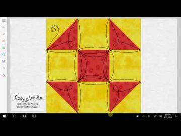 Shoofly Quilt Block Quilting Ideas Variation #2