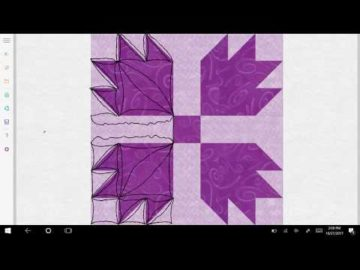 Bear Paw Quilt Block Quilting Variation #4