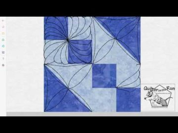 Free Motion Quilting Ideas for an Hourglass Block Variation #3