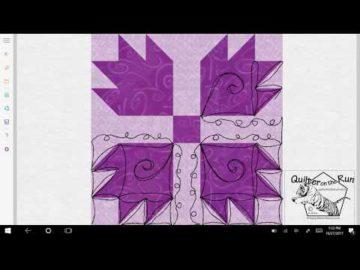 Bear Paw Quilt Block Quilting Variation #1