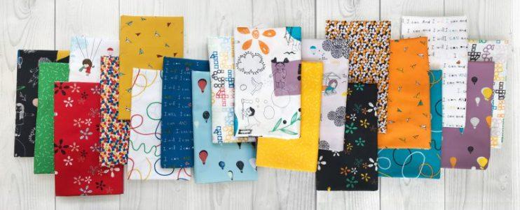 Sisu Fabrics in a row