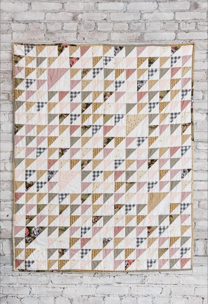 Better Together Beginner Quilt, Half Square Triangle Quilt