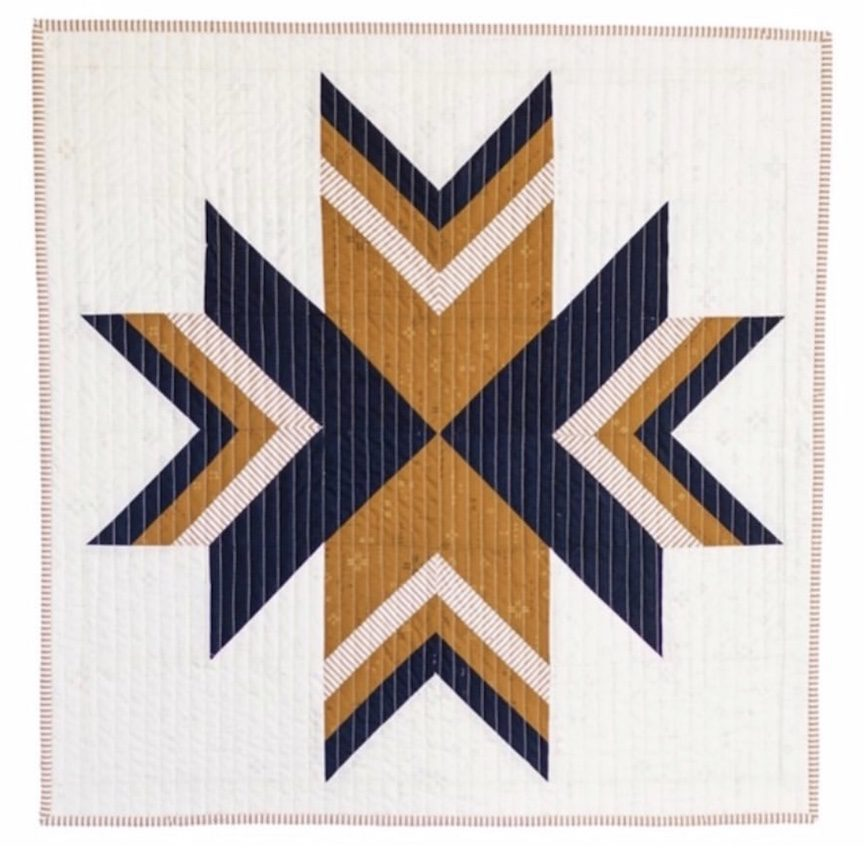 Nordic Snow Quilt Block by Wren Collective