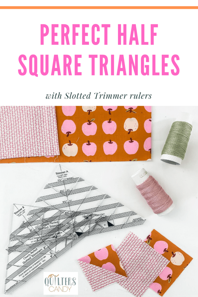 Slotted Trimmers ruler to make Perfect Half Square Triangles