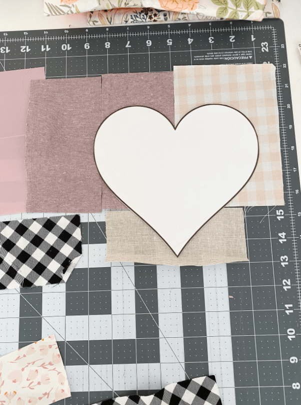 Heart Template for DIY Fabric Ornament