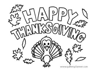 Free Thanksgiving Coloring Page The Quilter S Planner