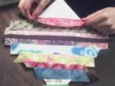 Maddie sewing strips