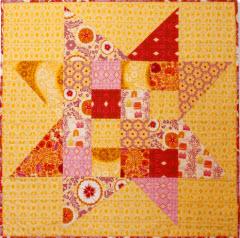 anna flannel wonky star quilt